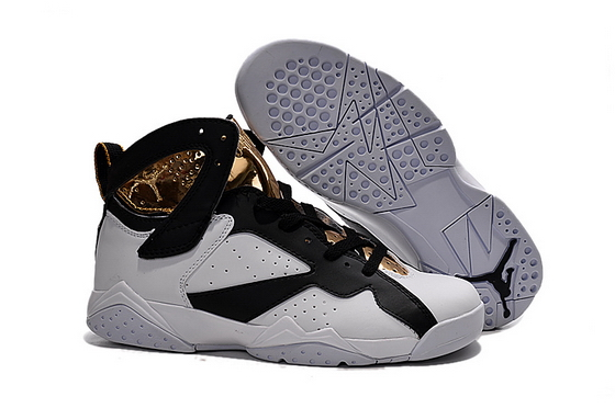 Air Jordan 7 Retro Shoes White/Black Gold